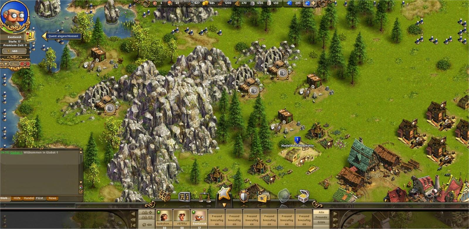 Die Siedler Online Holzproduktion