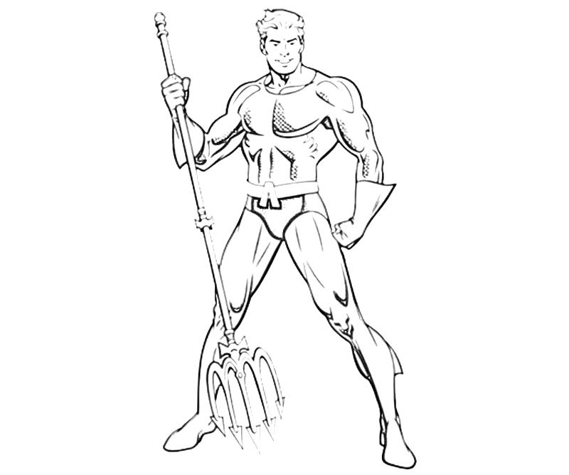Printable DC Universe Aquaman Abilities Coloring Pages title=