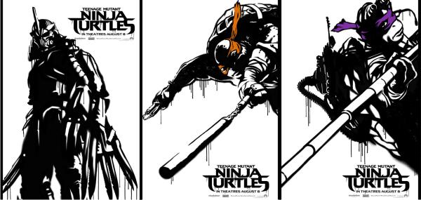 Quarteto mutante e Destruidor em pôsteres inéditos do remake de As Tartarugas Ninja, de Jonathan Liebesman