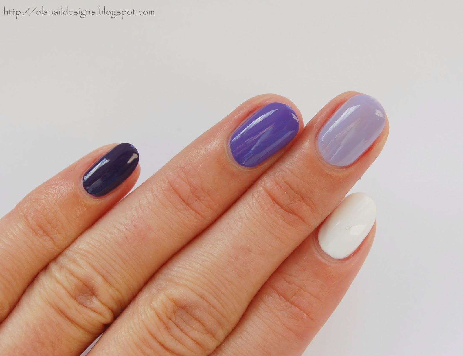 Paznokcie fioletowe ombre