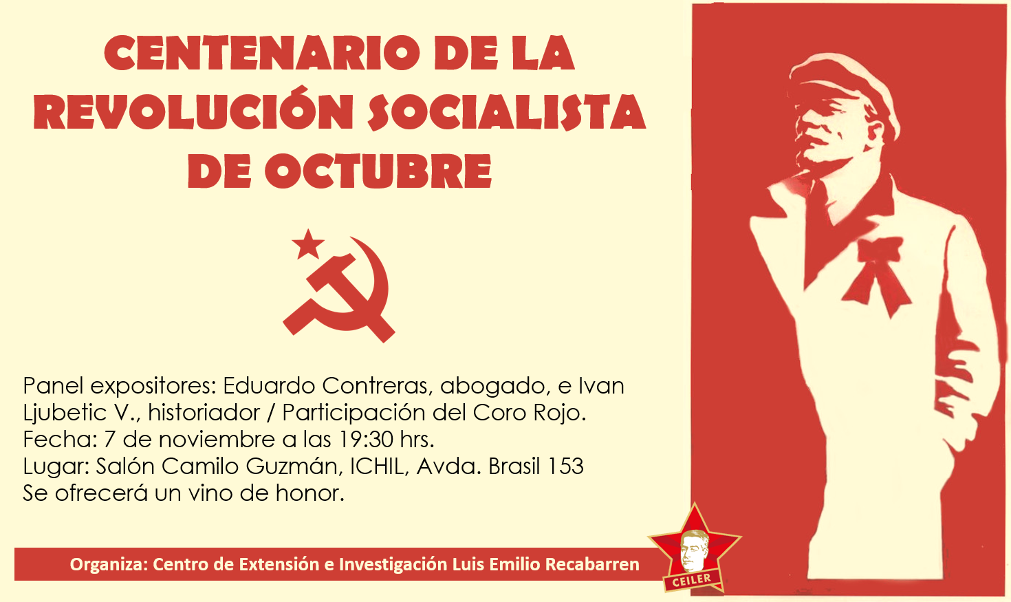 Invitaciòn Panel CEILER: Centenario Revolución Socialista de Octubre