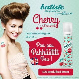 Testeur Produit Cherry de Batiste Shampooing Sec
