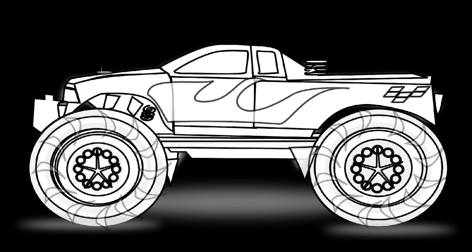 coloring pages monster truck - truck coloring sheets free coloring sheet