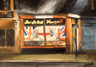 Painting of Bar-B-Que House on King Street in Great Yarmouth