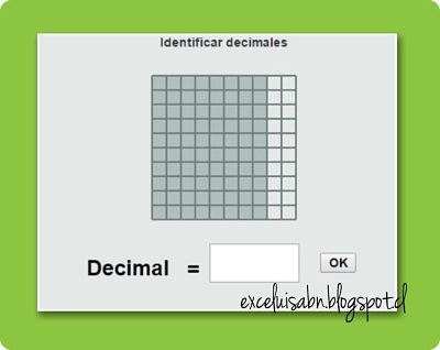 Identificar decimales.