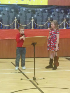 Top Ender and Big Boy at the Primary Talent Show