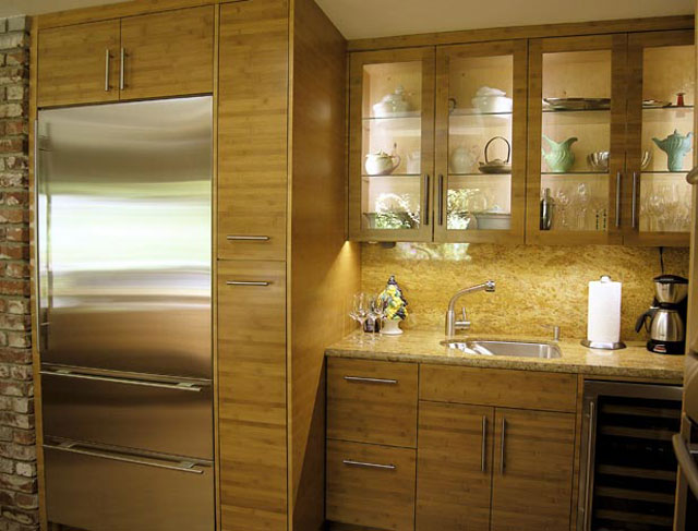 Kitchen cabinets bamboo