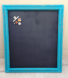 Peacock Blue Magnetic Chalkboard ($60)