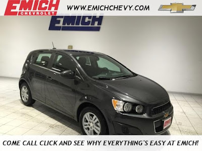 2016 Chevy Sonic at Emich Chevrolet