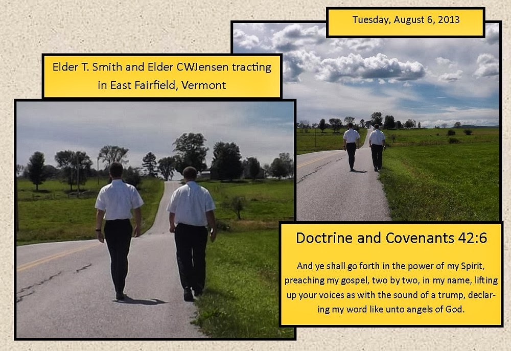 Companions Elder T. Smith and Elder Jensen