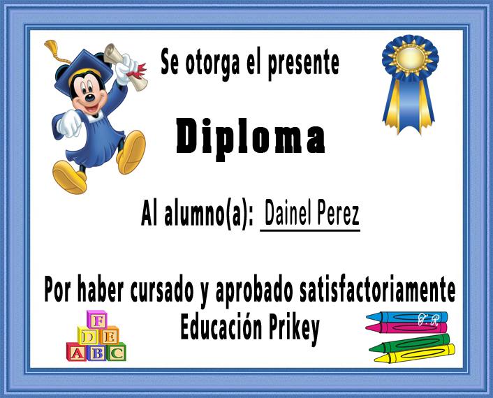 Reflexiones: DIPLOMAS PARA ALUMNOS GRADUADOS DE EDUCACIÓN INICIAL Y