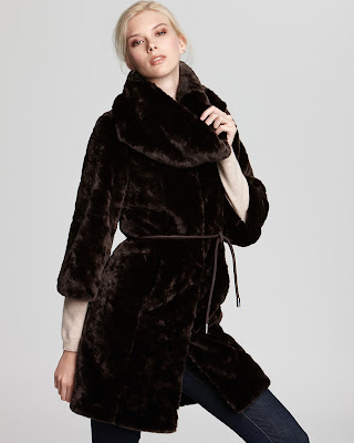 Long Sleeve Faux fur coat