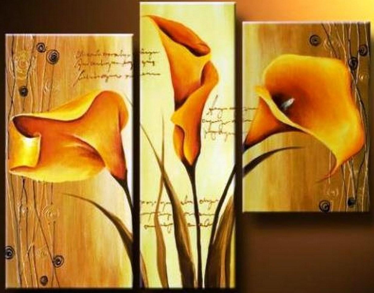 Cuadros de flores cuadros tripticos auto design tech for Imagenes de cuadros modernos