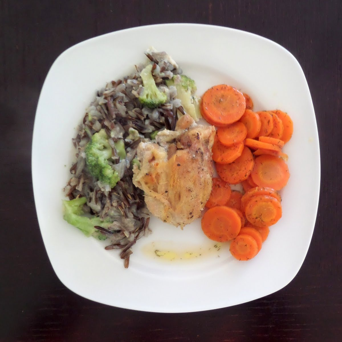 Chicken and Wild Rice Hotdish:  A delicious and simple hotdish of chicken and wild rice flavored with cream of mushroom soup.