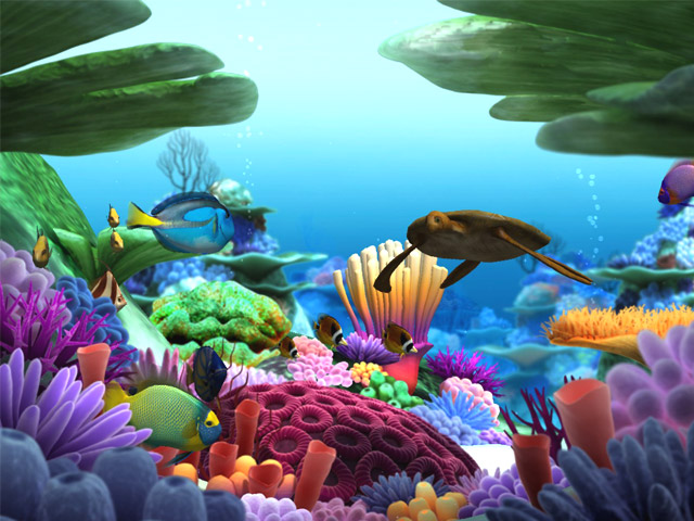Free 3d screensavers 3d puzzle image for Swimming fish screensaver