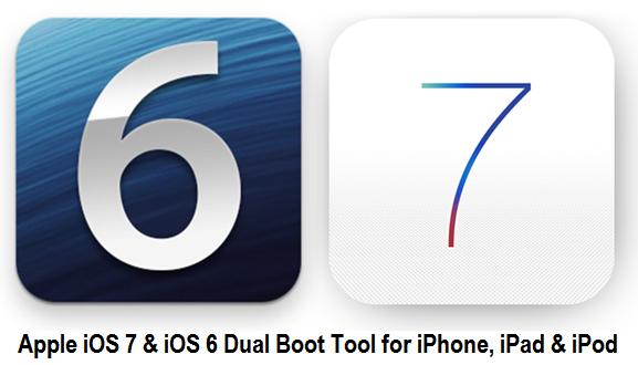 Download Dual Boot iOS 7, iOS 6 Firmware Tool for iPhone, iPad & iPod