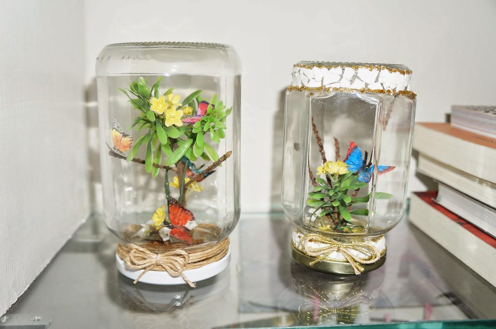 mini jardim de vidro:mini jardim reciclagem