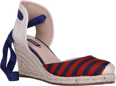 sandálias anabelas verão 2014 Arezzo listras navy