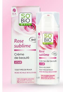 Crème de beauté Rose sublime SO'BIO étic à gagner