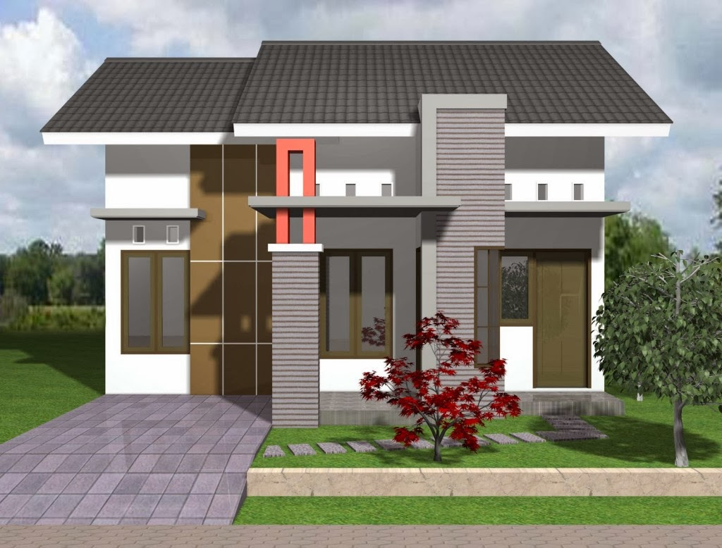 Gambar Desain Rumah Minimalis Type 21 Mungil dan Modern ...