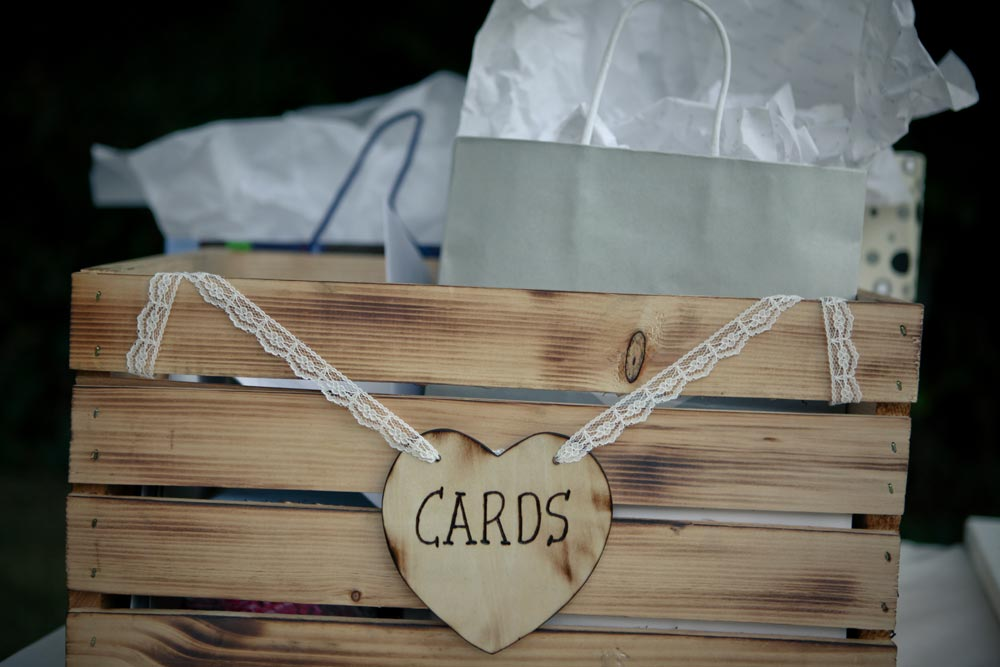 Used Wedding Gift Card Box : sign for the card box, which was an unfinished crate that Matthew used ...