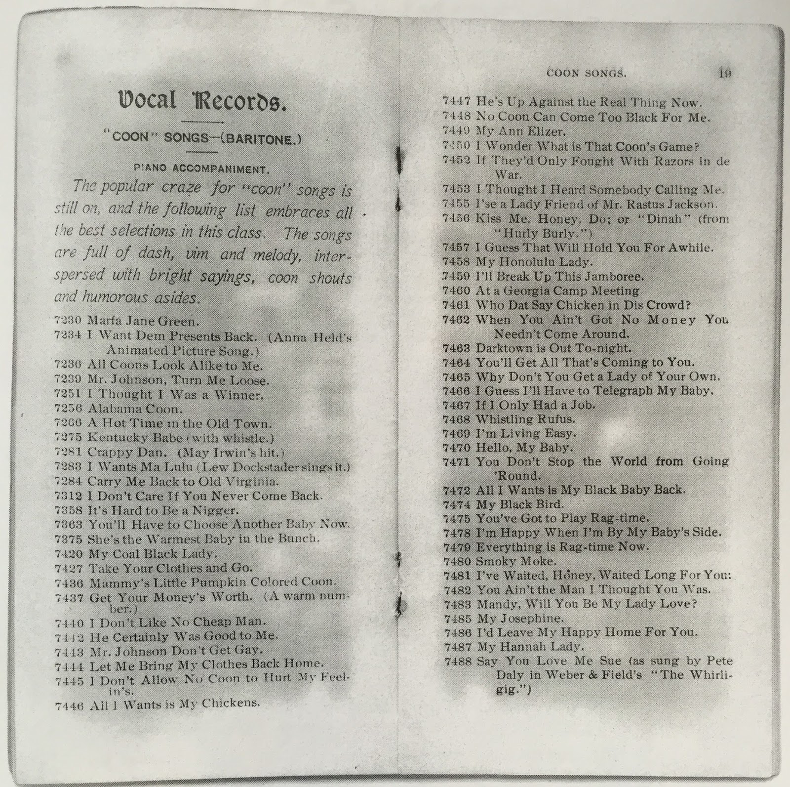 R S Baker s antique record blog Columbia Rag Time vs Edison Rag