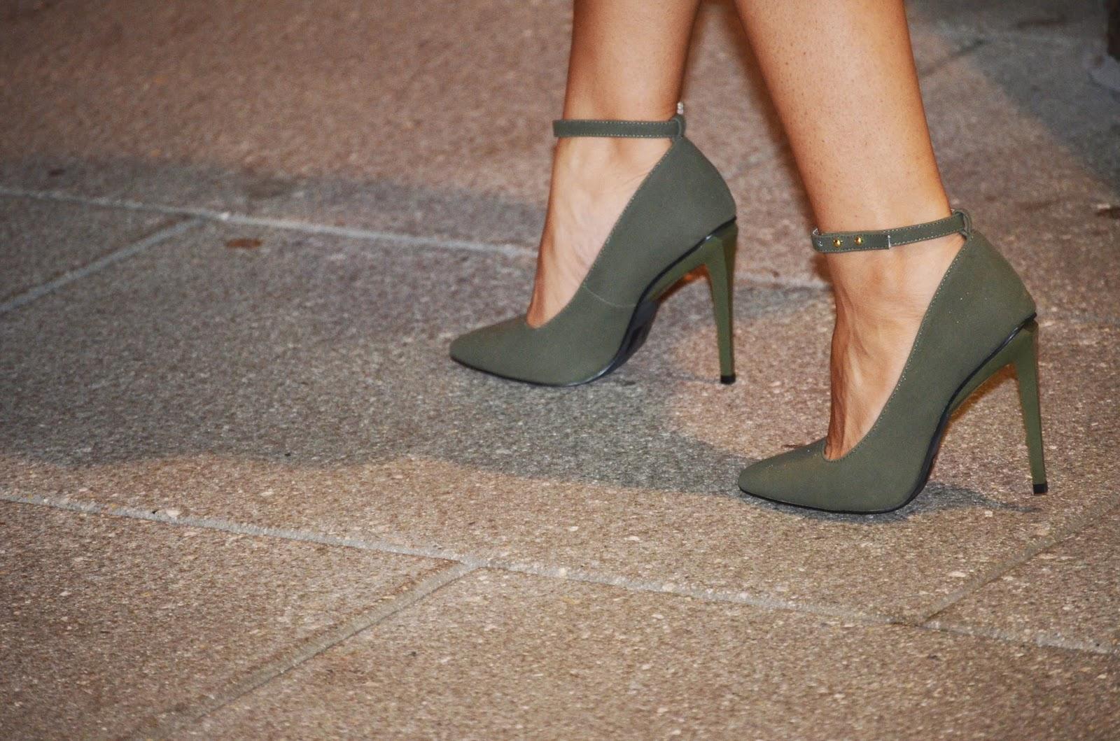 Zapatos Verde Olivo