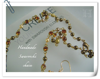 handmade chain with Swarovski Elements