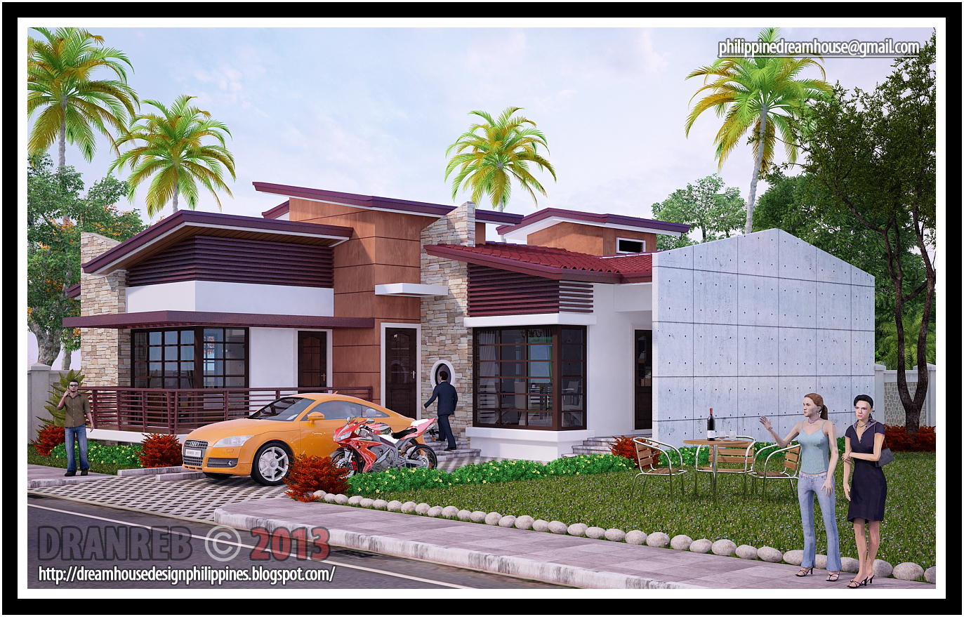 Does this dream house design looks familiar to you for Residential house design