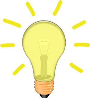 Lampu gambaran mendapat Inspirasi atau ide