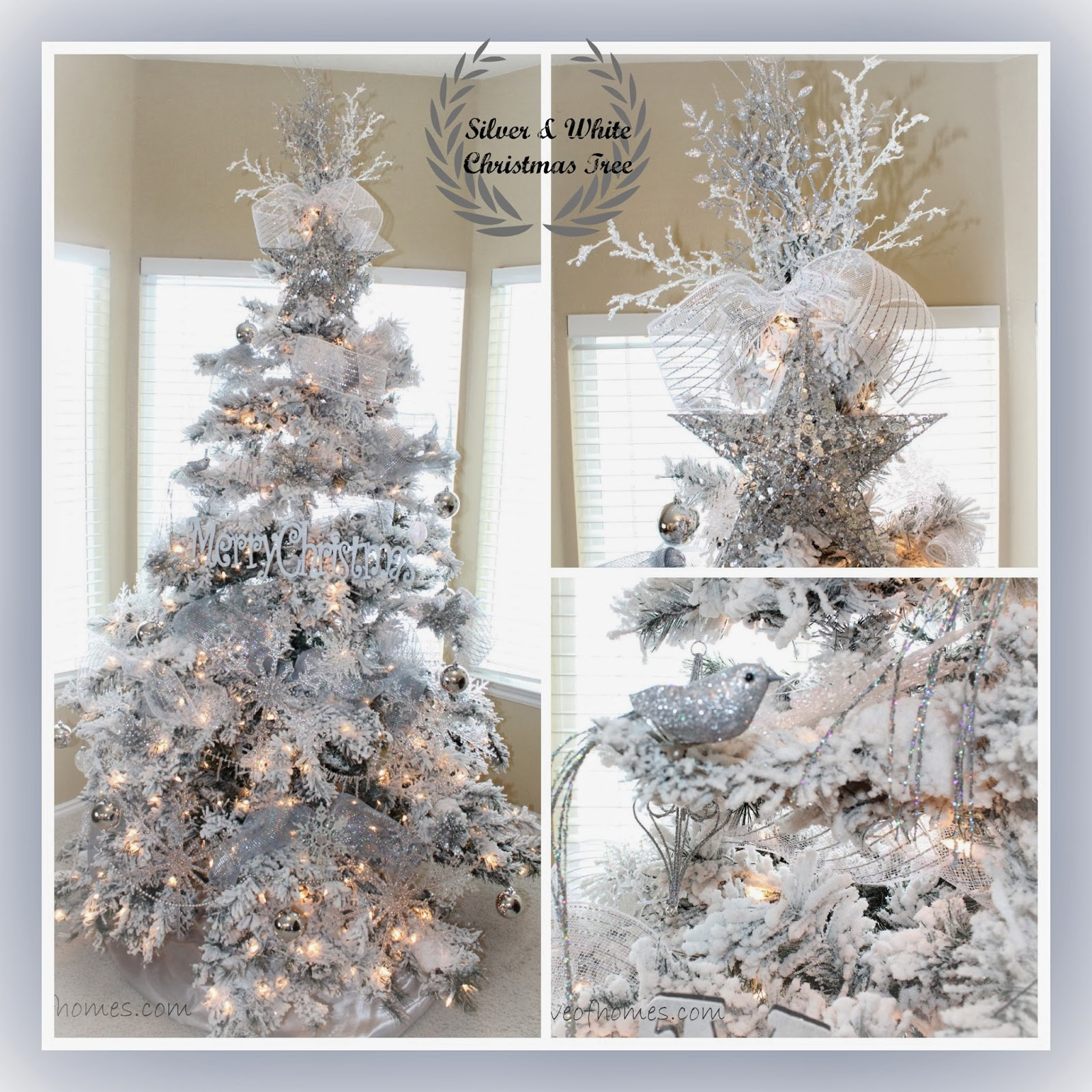 Love Of Homes Christmas Decor A Silver White Tree