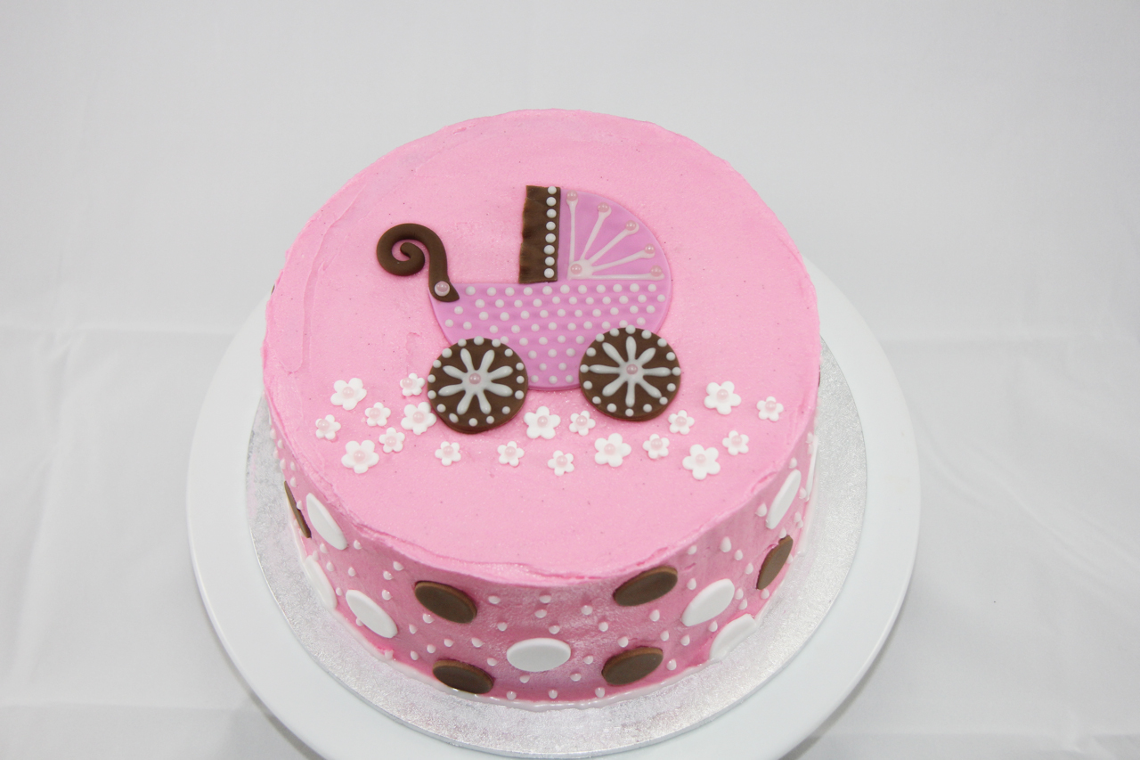 coco jo cake design pink baby shower