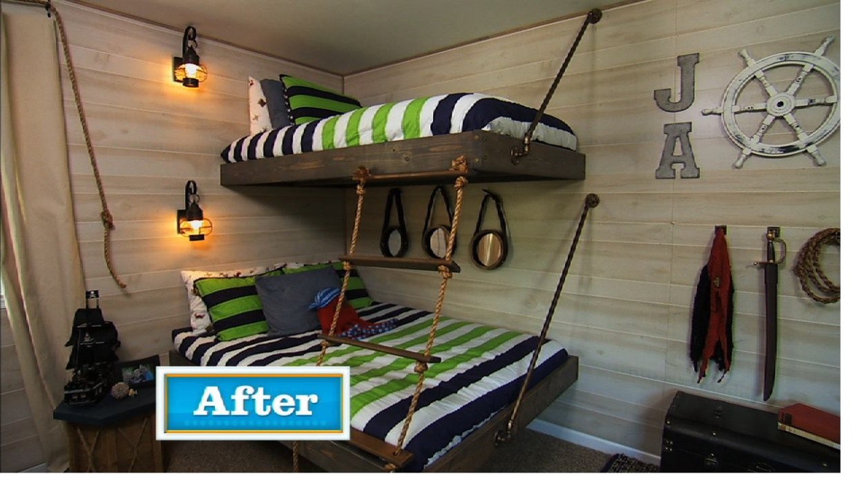 Floating Bunk Beds Tutorial