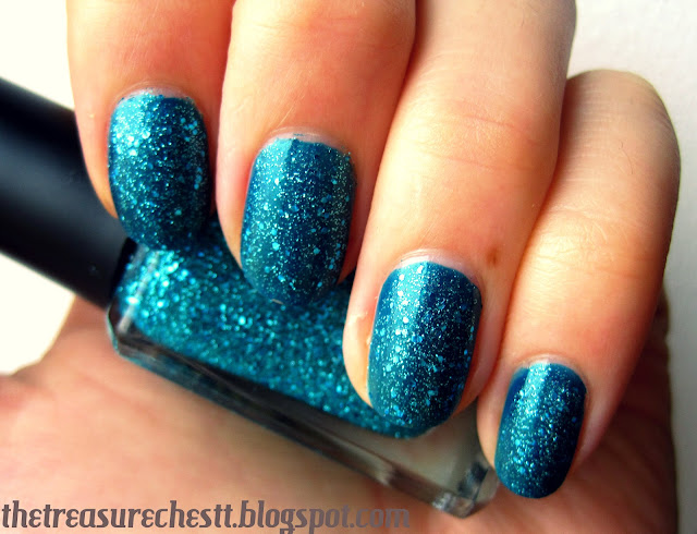 barry m aqua glitter w7 envy mermaid nails nail art