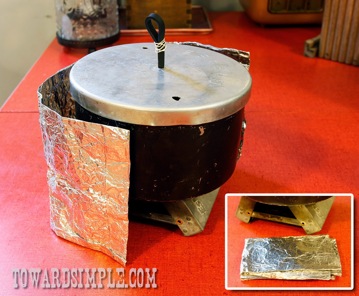 DIY windscreen for backpacking stove