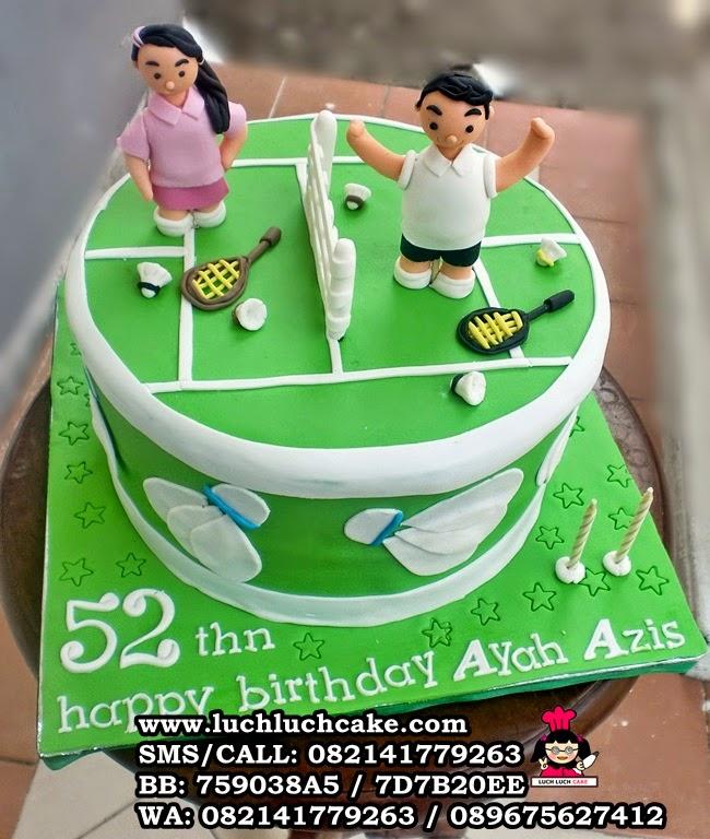 Kue Tart Badminton Untuk Ayah Daerah Surabaya - Sidoarjo