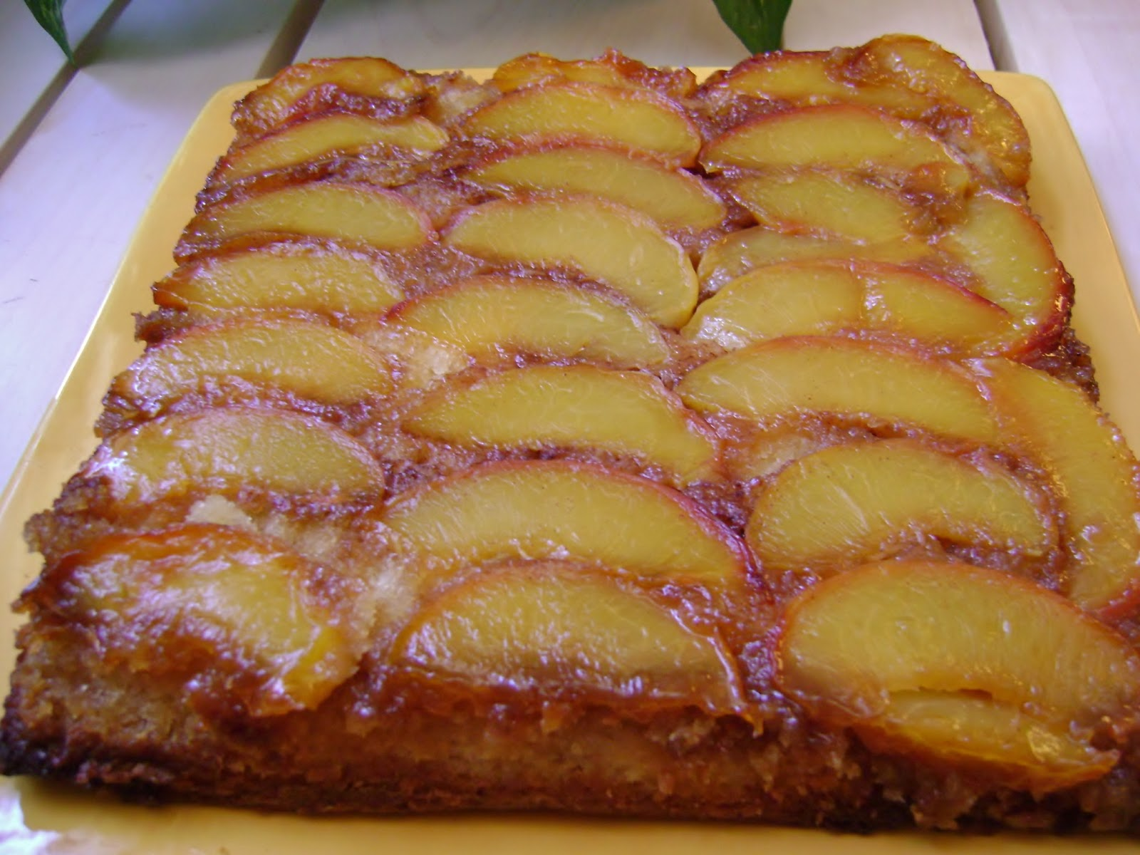 A Sunflower Life: Mystery Cuisine: Peach Upside-Down Cake