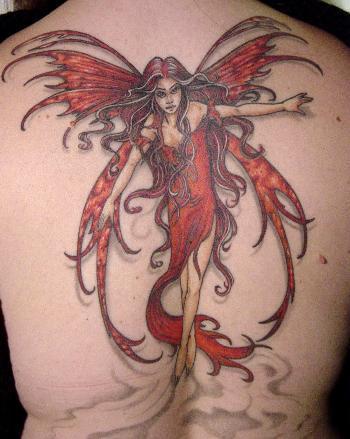 Fairy tattoos for girls latest fashion club for Fairy tattoos designs