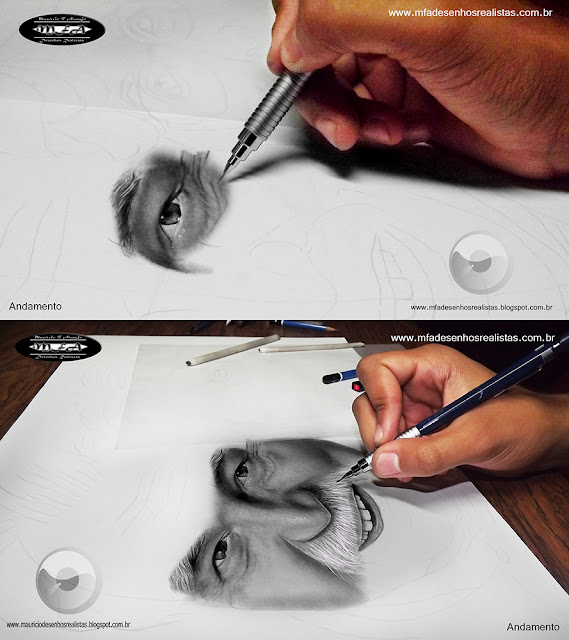 Desenhos Realistas - Maurício Fortunato Araújo