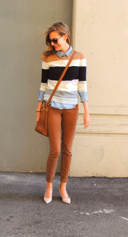 Super cute fall outfits with layering sweater