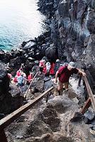 Ascending Prince Philip's Steps, Genovesa Island, Galapagos