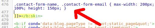 Kode CSS Widget ContactForm1