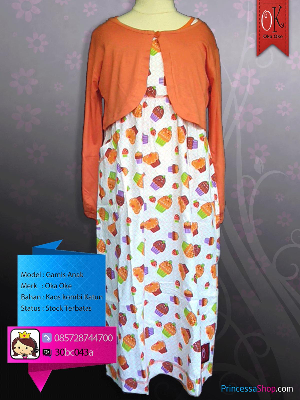 Baju Muslim Anak Perempuan Model Terbaru | Baju Gamis Anak Oka Oke