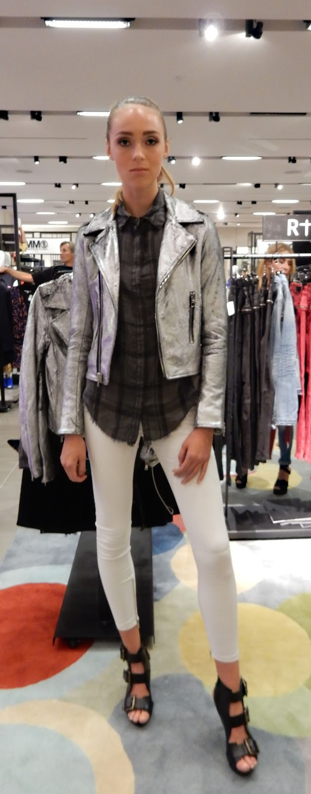 J Brand Biker Jacket Metallic CUSP Beverly Hills