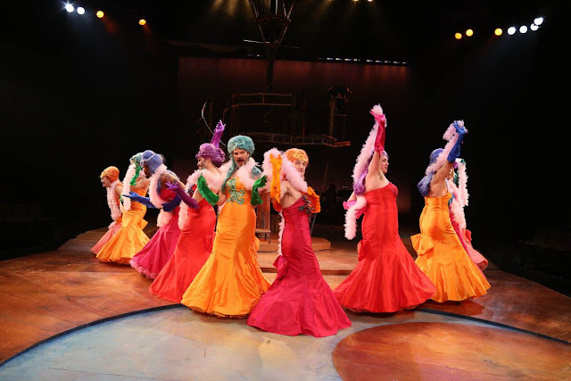 The Ensemble struts their stuff  as musical mermaids. (Photo by Curtis Brown.)