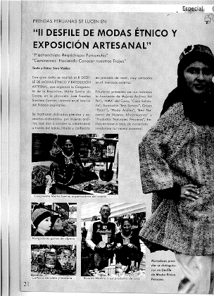 DESFILE DE MODAS ÉTNICO Y EXPOSICIÓN ARTESANAL