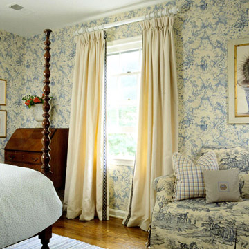 New bedroom window treatments ideas 2012 traditional Bedroom curtain ideas