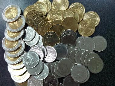 เหรียญที่ใส่จะหาเหรียญใหม่ ๆ ให้ก่อนค่ะ