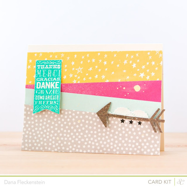 Thank You card by @pixnglue using Studio Calico's Marks & Co Kit