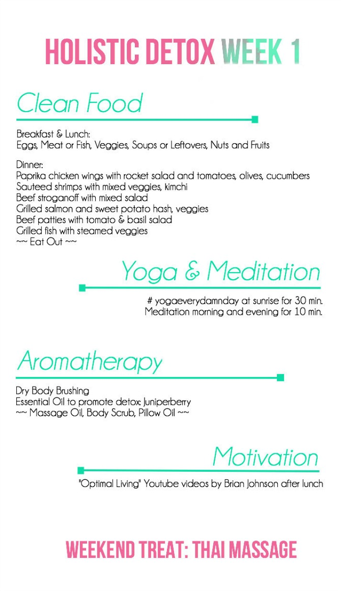 Holistic Detox Week 1